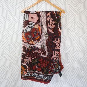 H&M Floral Oversized Blanket Scarf